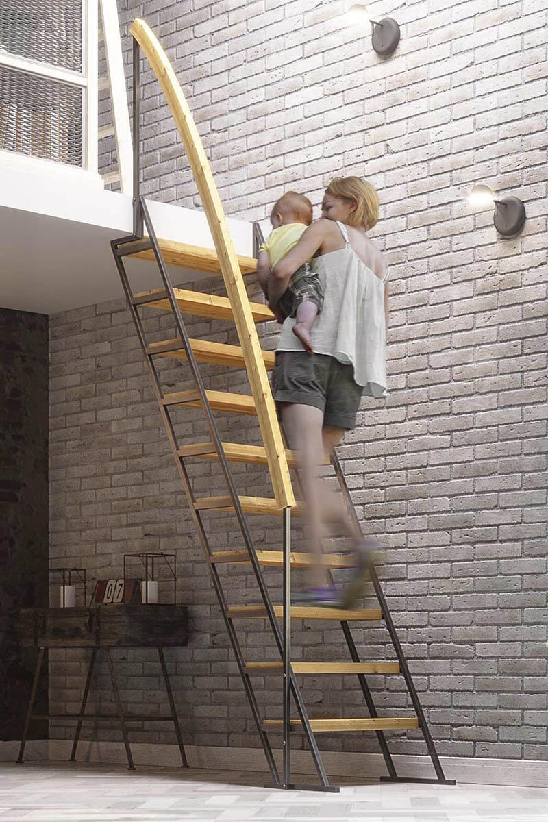 лестницы Zstep stairs LOFT прямая ЭКО
