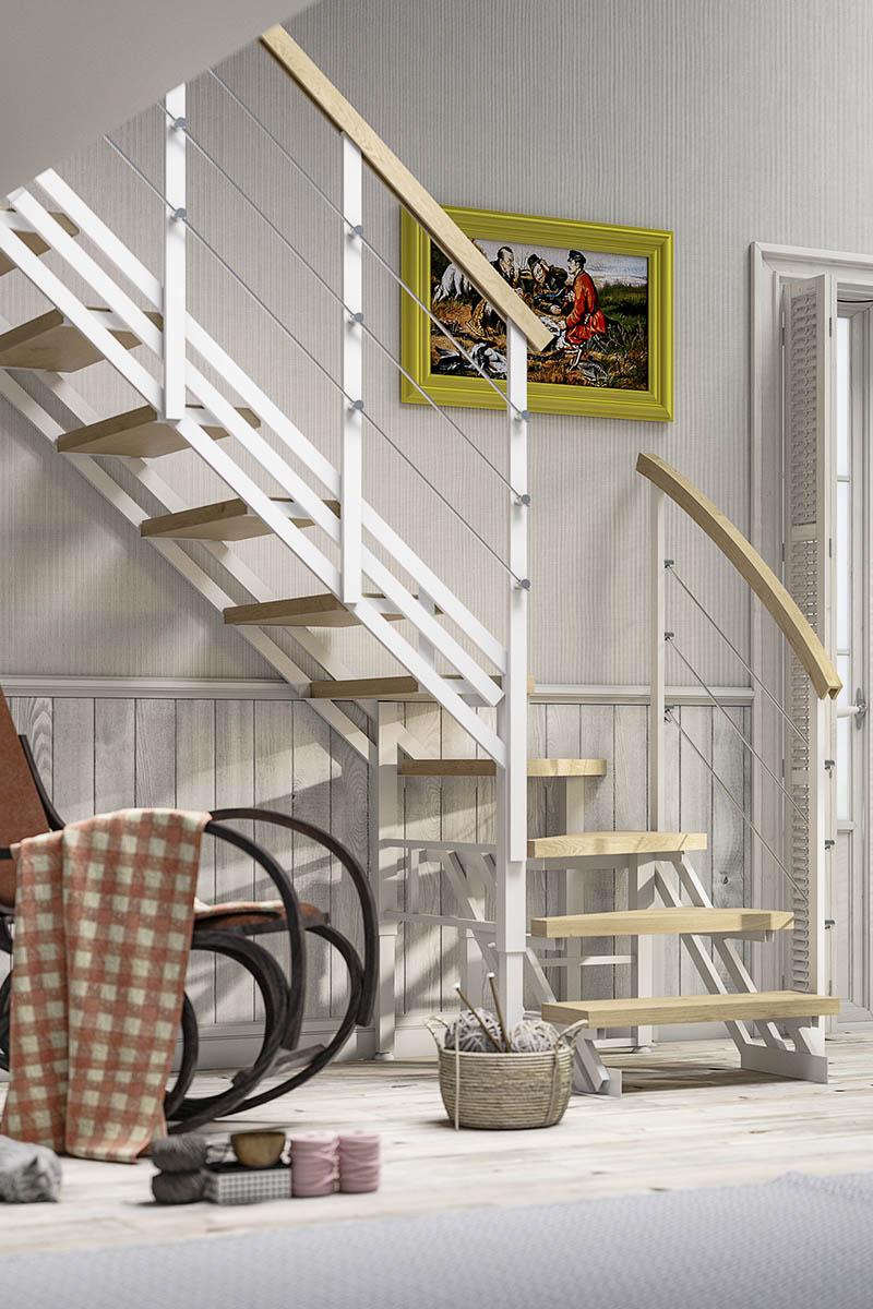 лестницы Zstep stairs Дачная, на металлокаркасе